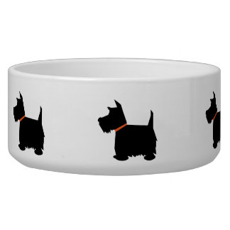 Cuenco negro del perro casero de la silueta de Ter Boles Para Gatos