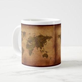 cuenco para sopa del jumbo del mapa del mundo de taza grande