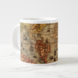 Cuenco para sopa del jumbo del mapa del Viejo Taza Grande