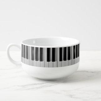 Cuenco para sopa del personalizado del teclado de