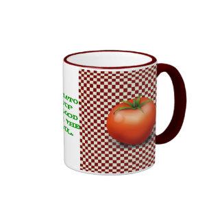 Cuenco para sopa del tomate taza a dos colores