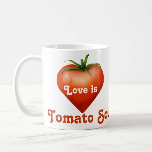 Cuenco para sopa del tomate tazas de café