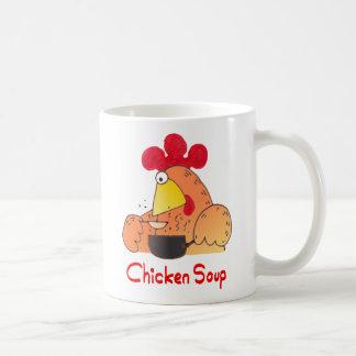 Cuenco para sopa divertido del pollo de la taza el