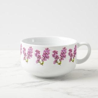 Cuenco para sopa - flores de la lila