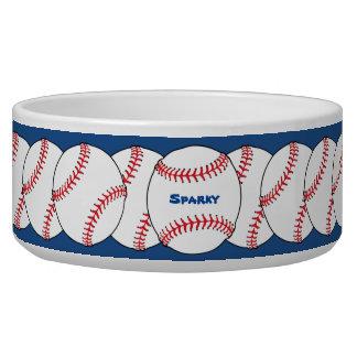 Cuenco patriótico del mascota del béisbol comedero para mascota