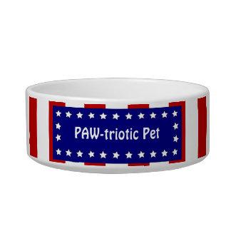 Cuenco patriótico divertido del mascota de América Tazon Para Gato