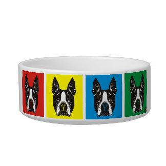 Cuenco PawsID del perro de Boston Terrier Comedero Para Mascota