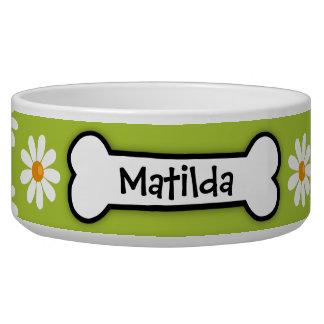 """Cuenco personalizado del perro de la """"margarita"""" tazones para perrros"""