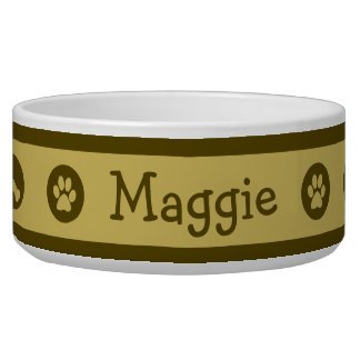 Cuenco personalizado moca del perro comedero para mascota