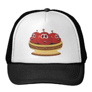Cuenco por completo de dibujo animado de las cerez gorras