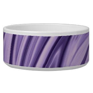 Cuenco púrpura abstracto del satén (mascota) comedero para mascota