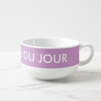 Cuenco púrpura personalizado de la taza de name cuenco para sopa