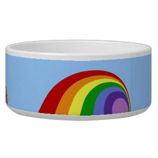Cuenco retro del mascota del arco iris boles para gatos