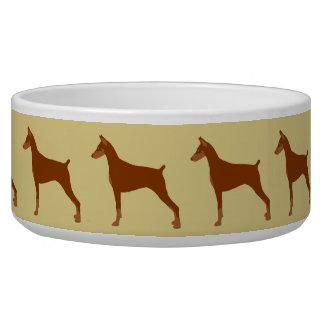 Cuenco rojo del perro del Doberman Comedero Para Mascota
