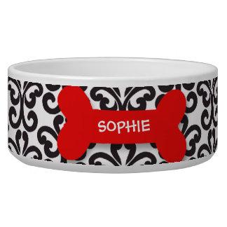 Cuenco rojo personalizado del alimento para animal tazon para perro