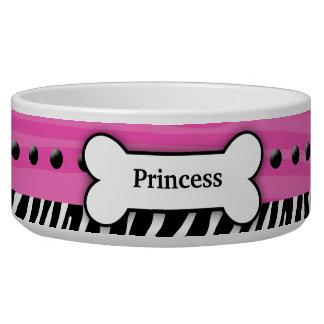 Cuenco rosado de moda del alimento para animales d tazon para perro