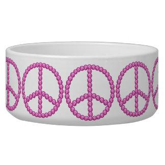 Cuenco rosado del mascota de Bling de la paz de Ca Boles Para Gatos