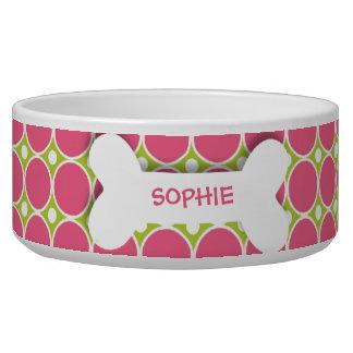 Cuenco rosado personalizado del alimento para anim comedero para mascota