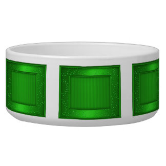Cuenco verde de los rectángulos del reflejo tazón para perro