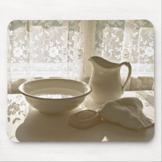 Cuenco   y jarra de lavado de MOUSEPAD