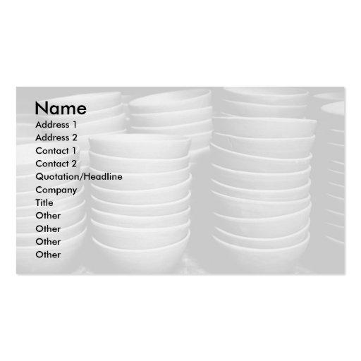 Cuencos de la cerámica tarjeta de visita