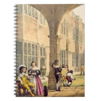 Cuencos en la terraza en Bramshill en 1600, de 'A Libretas Espirales