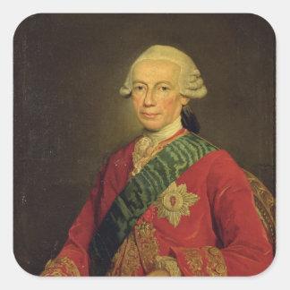 Cuenta Claude-Louis-Roberto de Santo-Germán 1777 Pegatina Cuadrada