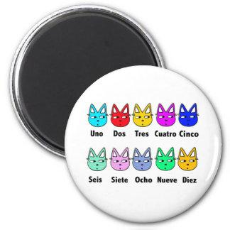 Cuenta de gatos españoles imán redondo 5 cm