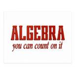 Cuenta de la álgebra en él