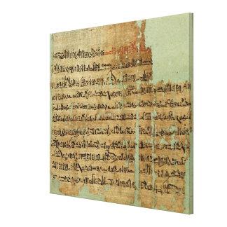 Cuenta de la batalla de Qadesh, dada a Siria cerca Lienzo Envuelto Para Galerías