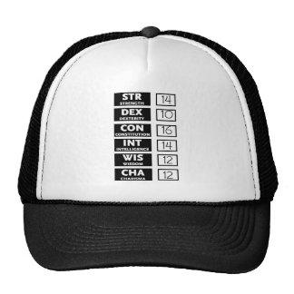 Cuenta de la capacidad del RPG (negro y blanco) Gorras
