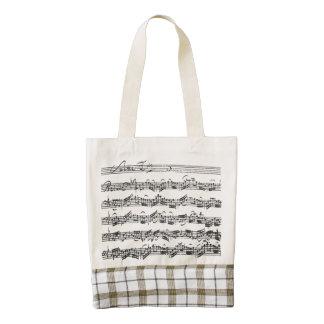 Cuenta de la habitación del violoncelo de Bach con Bolsa Tote Zazzle HEART