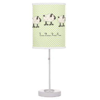 Cuenta de la lámpara de mesa caprichosa del dormit