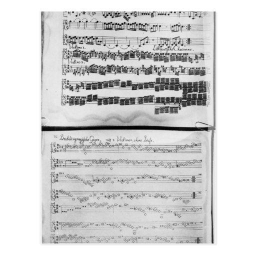 Cuenta de la música para la habitación de Telemann Postal