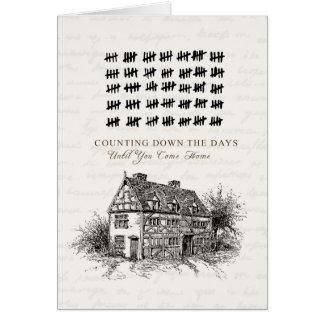 Cuenta de los días tarjeta de felicitación