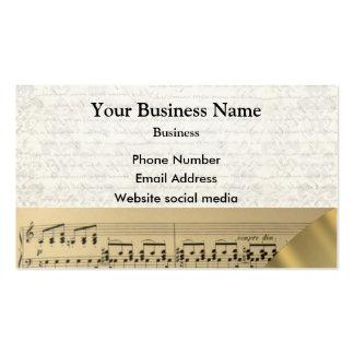Cuenta de los músicos de la música tarjetas de visita