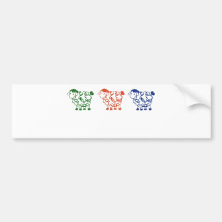 Cuenta de ovejas etiqueta de parachoque