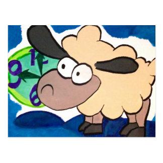 Cuenta de ovejas tarjeta postal