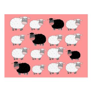 Cuenta de ovejas tarjetas postales