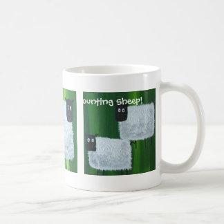 Cuenta de ovejas tazas de café