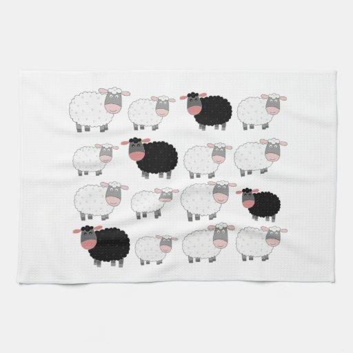 Cuenta de ovejas toalla de mano