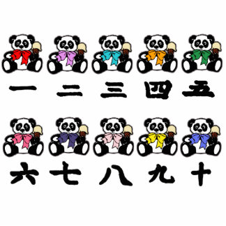 Cuenta de pandas chinas escultura fotográfica