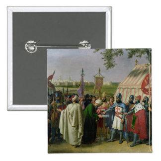 Cuenta de Trípoli que acepta la entrega Pin Cuadrado