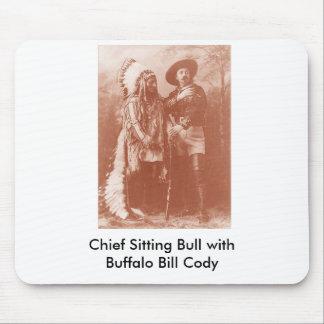 cuenta del búfalo del toro de sentada w, principal mouse pads