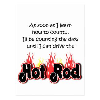 Cuenta del coche de carreras de la charla del tarjeta postal