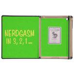 Cuenta descendiente a Nerdgasm - fondo verde iPad Cobertura
