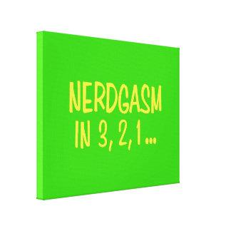 Cuenta descendiente a Nerdgasm - fondo verde Impresión En Lona