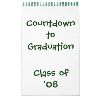 Cuenta descendiente al calendario de la graduación
