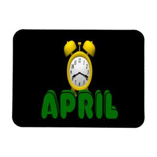 Cuenta descendiente de abril imán de vinilo