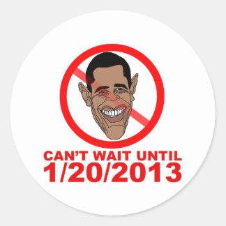 Cuenta descendiente de Barack Hussein Obama Pegatinas Redondas